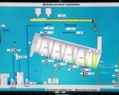Автоматизация диффузионного отделения с наклонным аппаратом