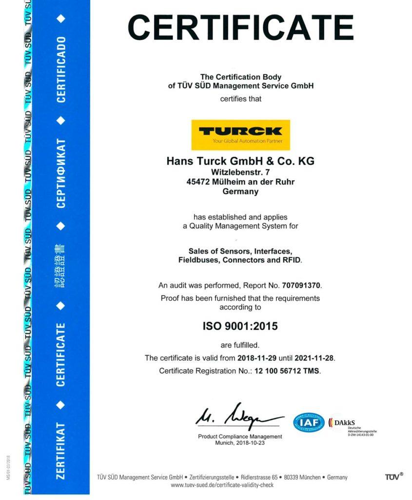 Сертификаты производителей