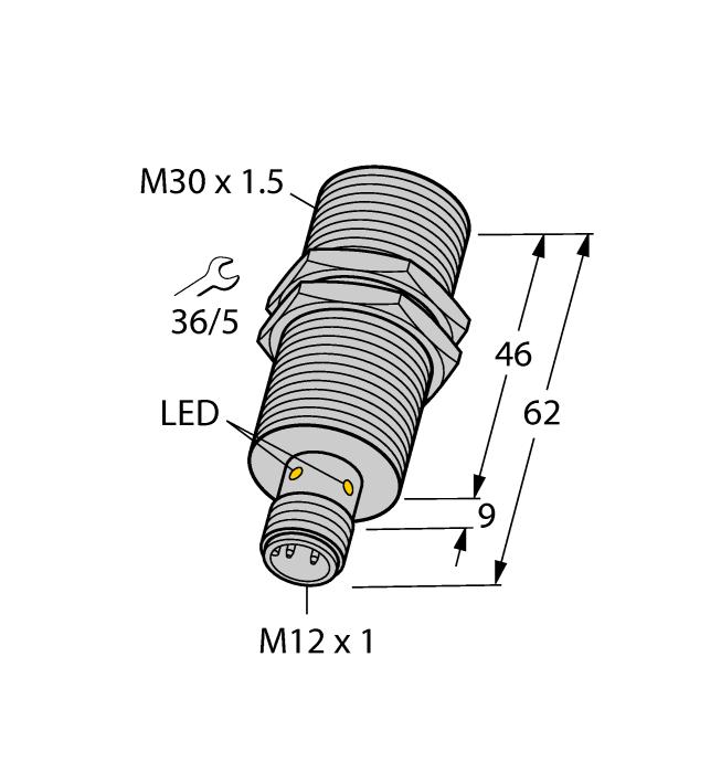 Датчик BI15U-M30-VP6X-H1141