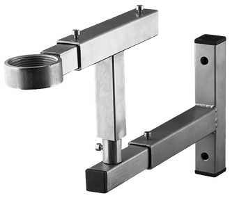 Wall bracket with rotary T-adapter