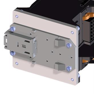 Carrier rail adapter for VEGAMET 391