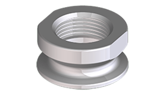 Hygienic adapter for G1″ sealing with O-ring