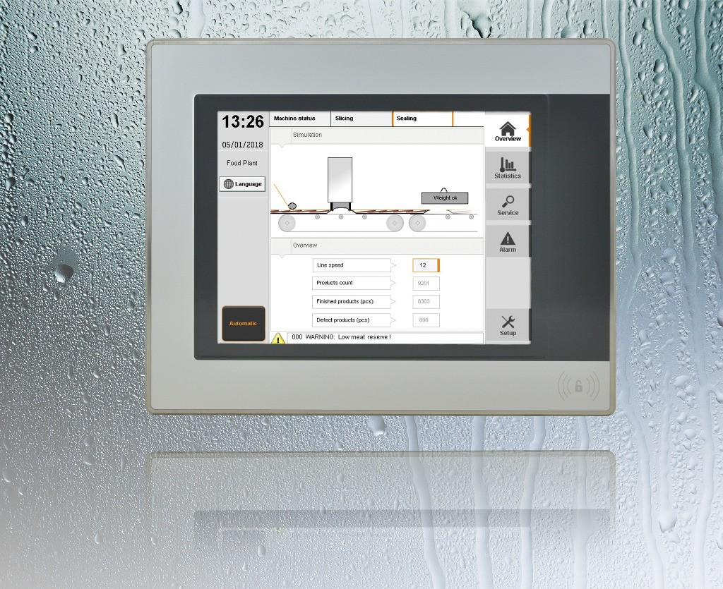 Panel PC — Hygienic stainless steel design