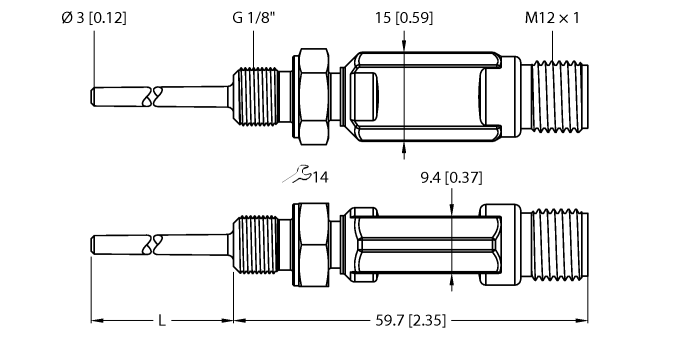 TTM050C-103A-G1/8-LI6-H1140-L013-50/50°C